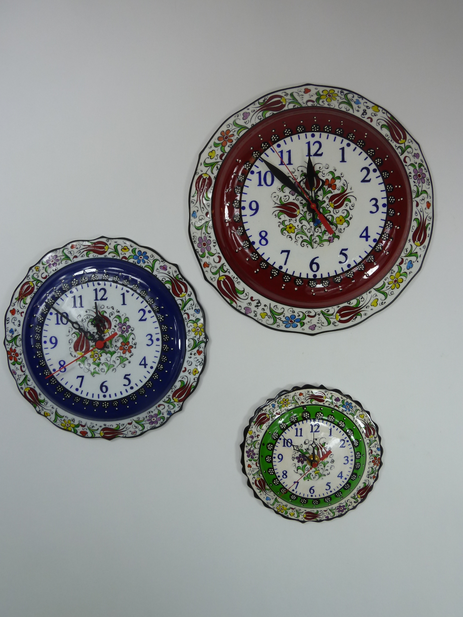 Unique Hand Painted Kitchen Wall Clocks