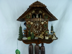 Water Wheel Saw 8 Day Musical Cuckoo Clock