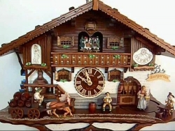 "Octoberfest Bavarian "" Biergarten""  Beer maid Cuckoo Clock"
