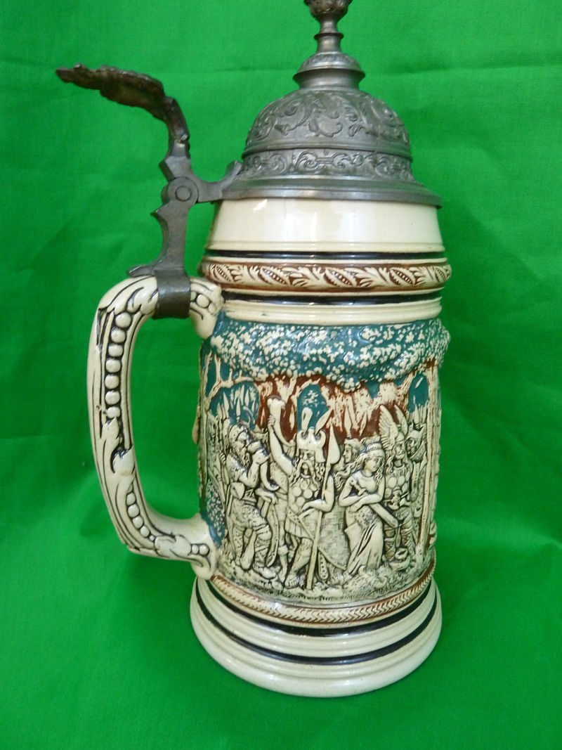 Antique Beer Stein Teutoborg Forest