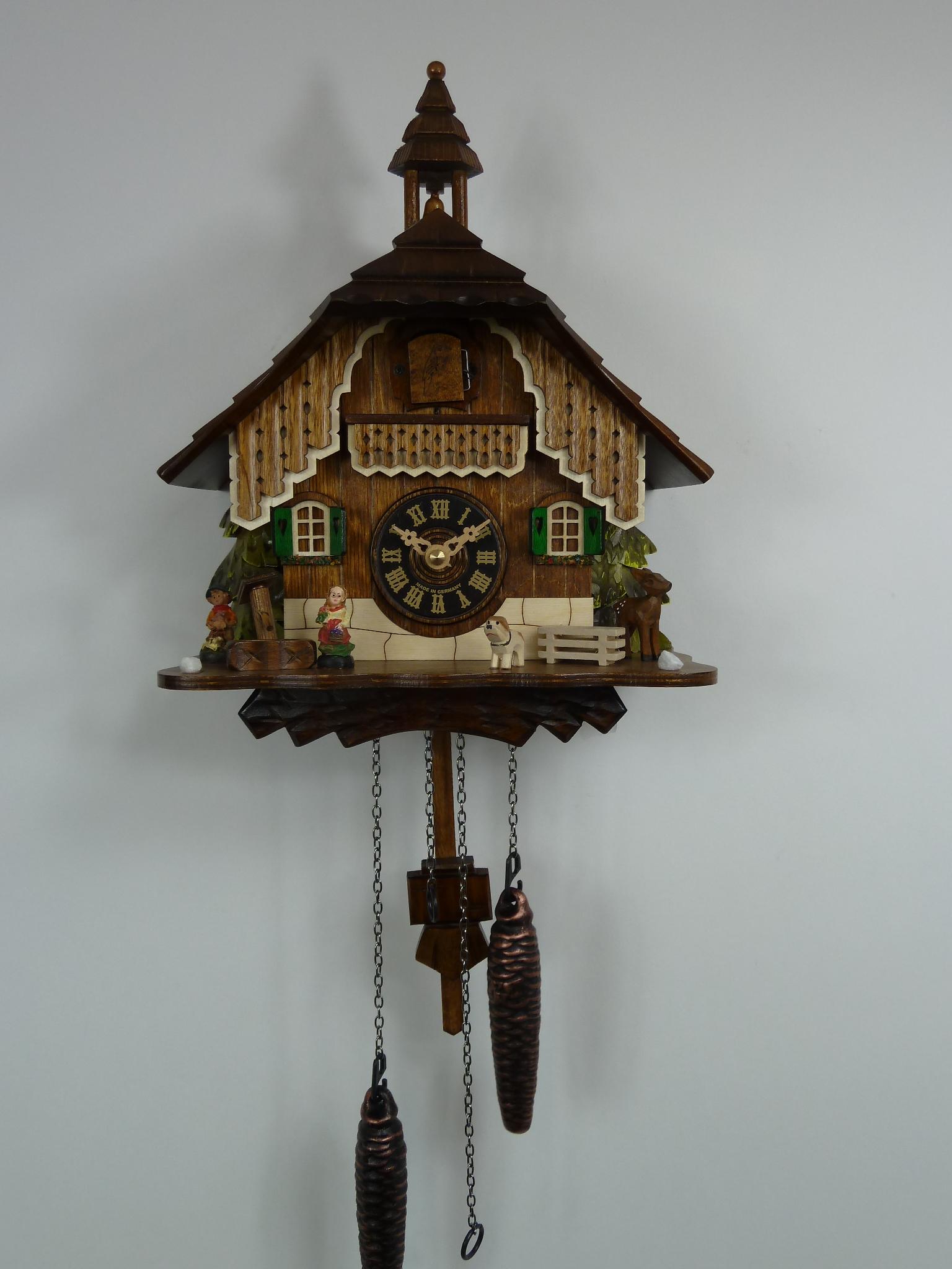 Cuckoo clock sales repair 4 year warranty rhythm clocks 429q engstleralexander taron bell tower cuckoo clock amipublicfo Images