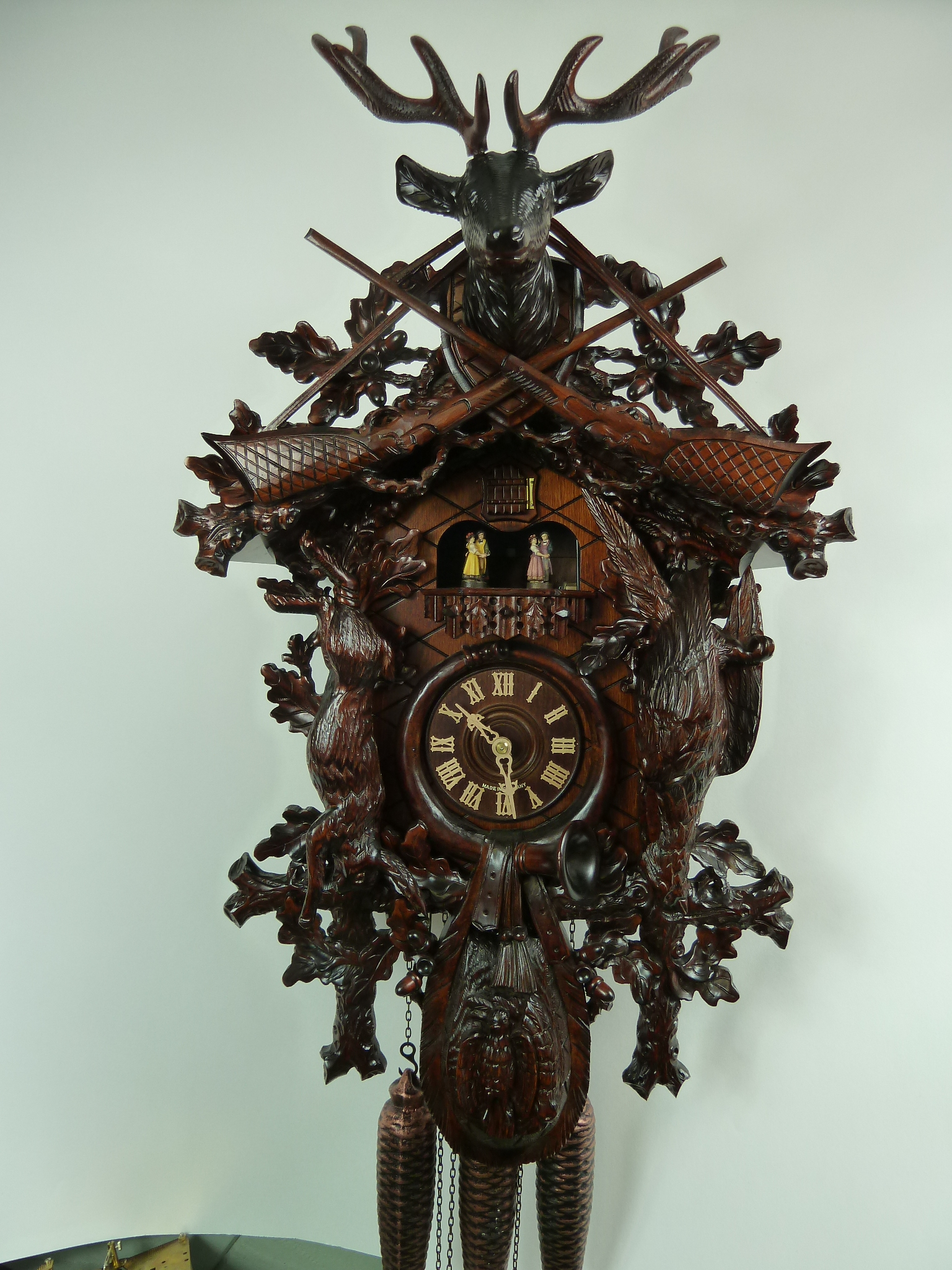 Master Carved Black Forest Hunting Cuckoo Clock 5 0133 01 P
