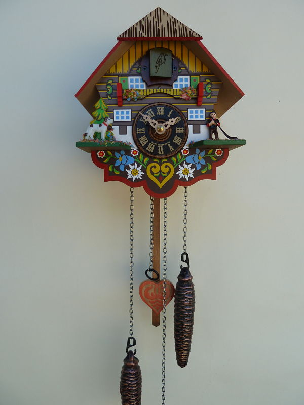 River city multi colored quartz cuckoo clock m8 08pq - Colorful cuckoo clock ...