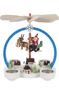 Dregeno Santa with sleigh Christmas pyramid