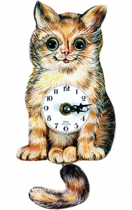Cat Clock  From  Germany