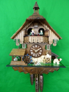 Wood Chopper Musical Cuckoo Clock with Bell Tower