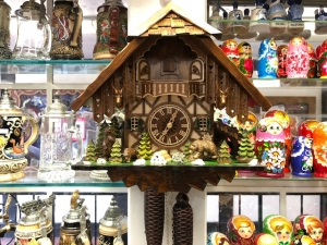 Black Forest VDS Certified 8 Day Bear Chalet Cuckoo Clock
