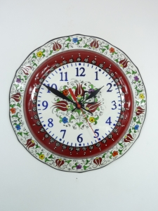 Colorful Red Kitchen Wall Clock I Free Shipping USA