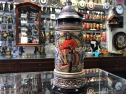 Zoeller Rustical  multi color Firefighter beer stein