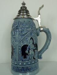 Antique Thewalt Blue knight Stein