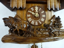 8 Day Horse Team Carved Chalet