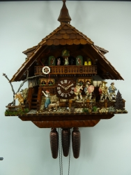 2004 VDS Award Winning August Schwer Chalet Cuckoo Clock .