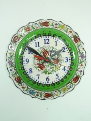 Apple Green Medium Hand Painted Clock